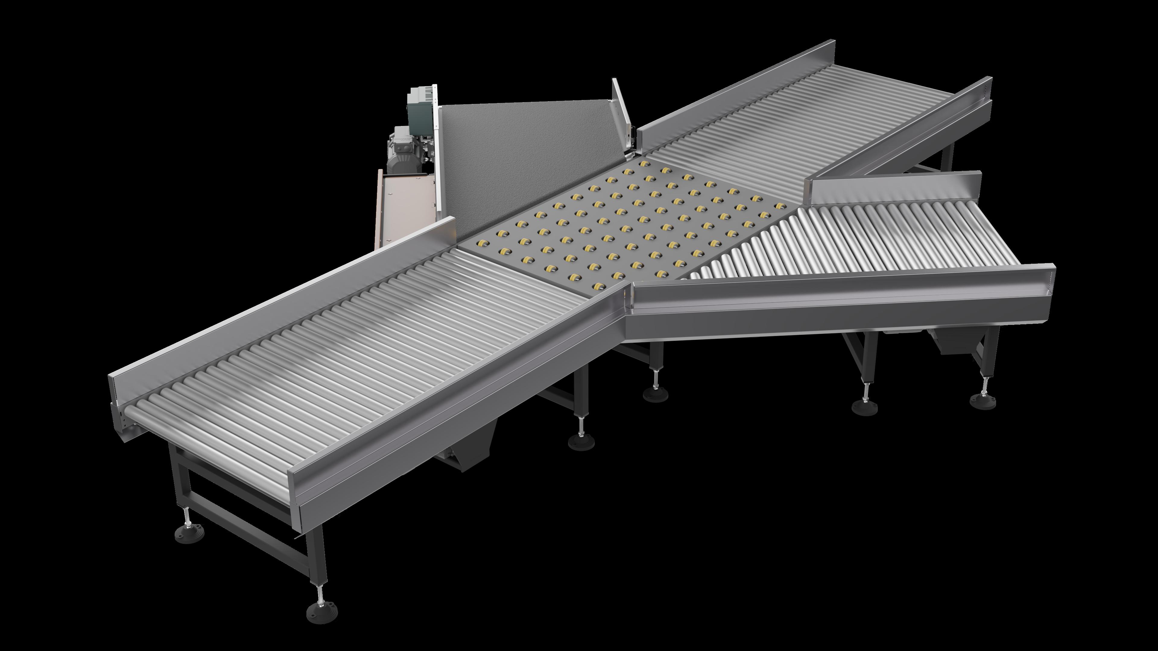 Horizontal distribution conveyor 001